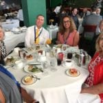2018 Leadership Retreat, Palm Beach – four members posing for photo at round table