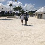 2019 In-state retreat, Key Largo – DAY TWO – member and husband posing for photo on beach