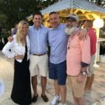 2019 In-state retreat, Key Largo – DAY three – four members posing for photo on beach