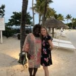 2019 In-state retreat, Key Largo – DAY three – two members posing for photo on beach