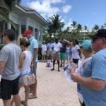 2019 In-state retreat, Key Largo – DAY three – overview of event with members and family gathered for golf cart instructions