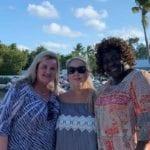 2019 In-state retreat, Key Largo – DAY three – three members posing for photo on beach