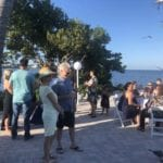 2019 In-state retreat, Key Largo – overview of event tables full and standing ocean side