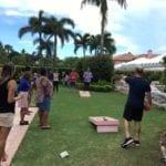 2018 Leadership Retreat, Palm Beach – members enjoying outdoor activity – cornhole