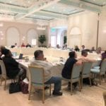 2018 Leadership Retreat, Palm Beach – conference room with members around table