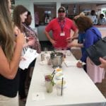 2018 Leadership Retreat, Palm Beach – members enjoying activity – making drinks for Mixology