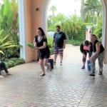2018 Leadership Retreat, Palm Beach – members enjoying outdoor activity – sponge race